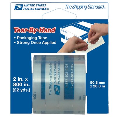 "Lepages 2"" x 800"" Tear By Hand USPS Packing Tape 83726"