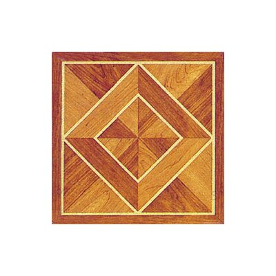 Home Dynamix Vinyl Light / Dark Wood Diamond Floor Tile (Set of 30)