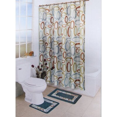 Home Dynamix Bath Boutique 15 Piece Bath Set in Brown / Aqua