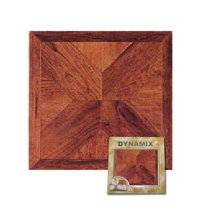 "Home Dynamix 12"" x 12"" Vinyl Tile in Cherry Wood Cross"