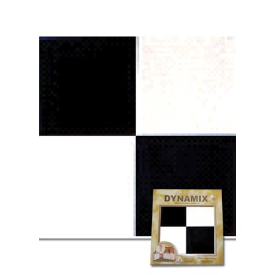 "Home Dynamix 12"" x 12"" Vinyl Tile in Machine Black / White Check Board"