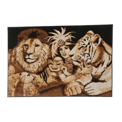 <strong>Home Dynamix</strong> Zone Indian, Tiger and Lion Novelty Rug