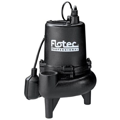 Flotec 3/4 HP Cast Iron Professional Series Sewage Pump