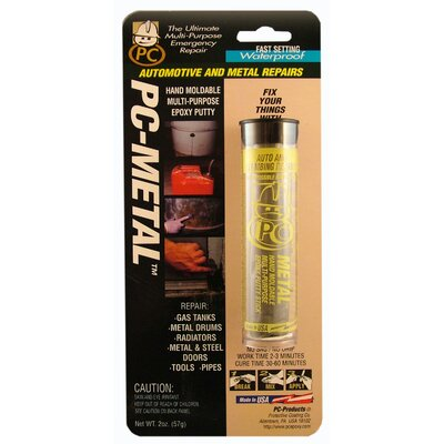 PCProducts 2 Oz Gray Metal Putty Epoxy 025550