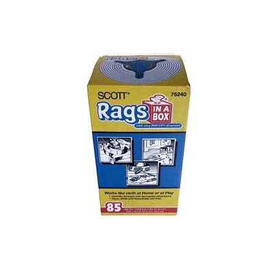 GBGardnerBender 85 Count White Scott® Rags In-A-Box 75240
