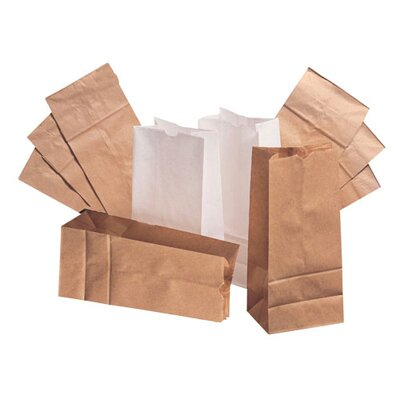 "General 12 7.06"" Kraft Paper Bag in Brown"