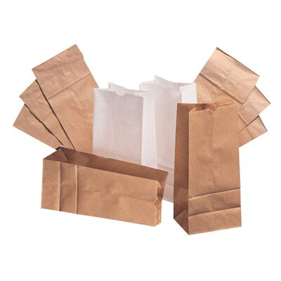 "General 2 4.31"" Kraft Paper Bag in Brown"