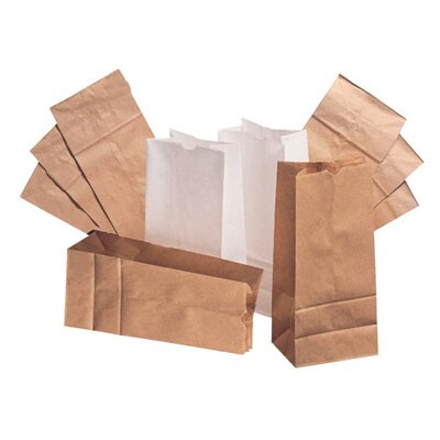 General 12 Paper Bag in White with 500 Per Bundle