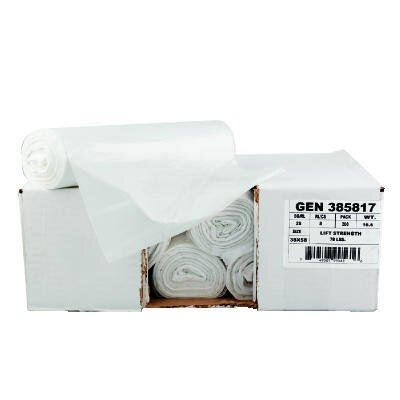 """General 40"""" x 46"""" High-Density Can Liner with 16 Micron Equivalent in Clear"""