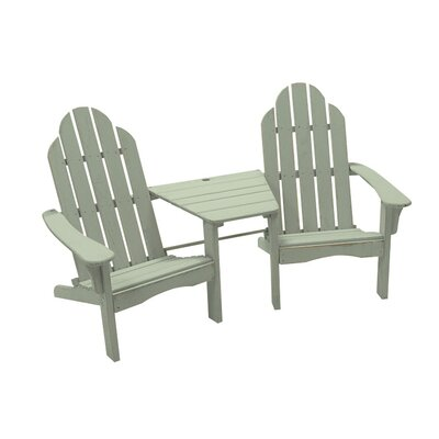 Great American Woodies Cottage Classic Tete-A-Tete Adirondack Chair