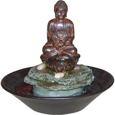 Alpine Eternity Buddha Tabletop Fountain