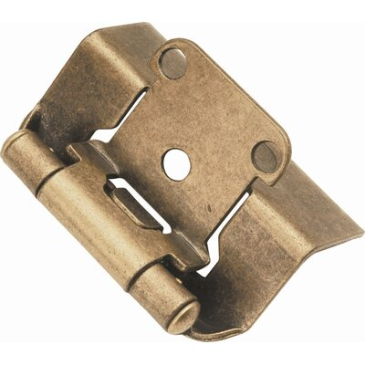 HickoryHardware Semi-Concealed Full Wrap Hinge (Pack of 2)