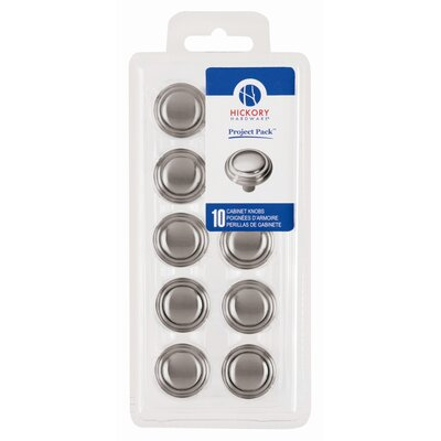"HickoryHardware Project 1.12"" Cabinet Round Knob (Set of 10)"