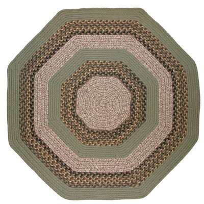 Beantown Boston Garden Green Multi Octagon Rug