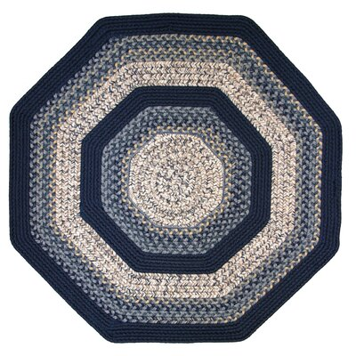 Beantown Charles River Blue Multi Octagon Rug