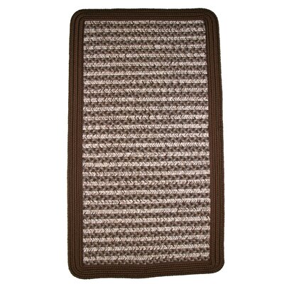 Thorndike Mills Town Crier Brown Square Rug