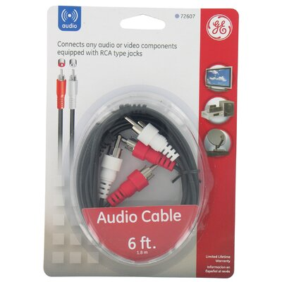 Jasco 6' RCA To RCA Audio Cable