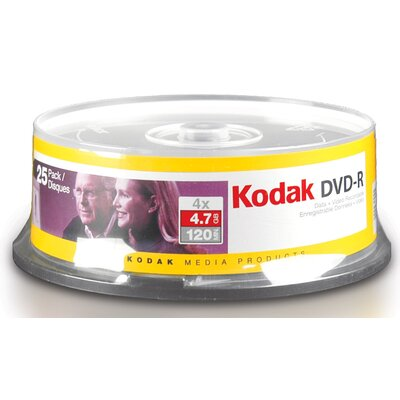 "KMPMedia 5.75"" Kodak 4.7 GB Media (Pack of 25)"