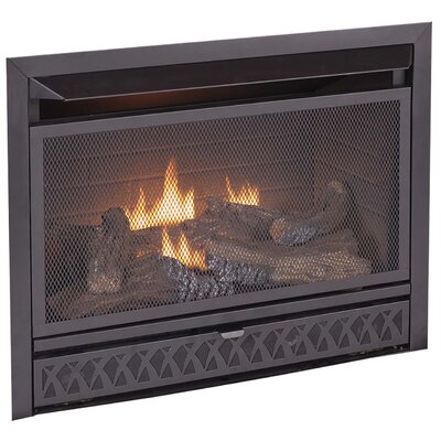 Dual Fuel Firebox and Log Combo Vent Free Gas Fireplace