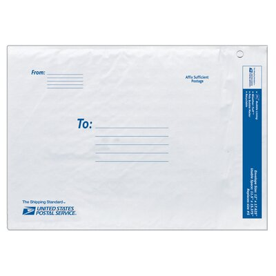 "Lepages 12"" USPS Poly Bubble Mailer in White"
