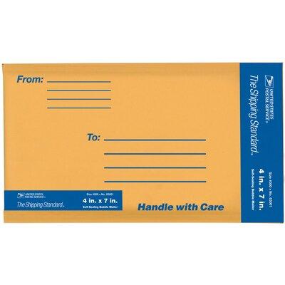 """Lepages 4"""" x 7"""" Kraft Manila USPS Padded Mailer"""
