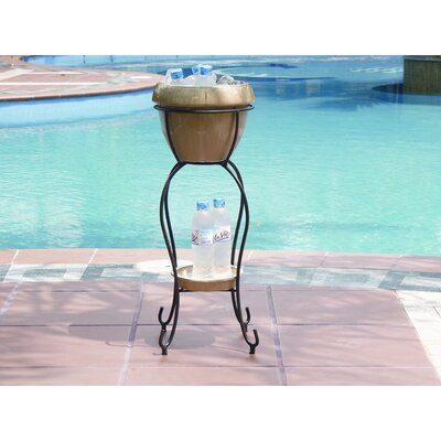 Alfresco Home Duetto Elevated Planter & Beverage Cooler - Antique Cream