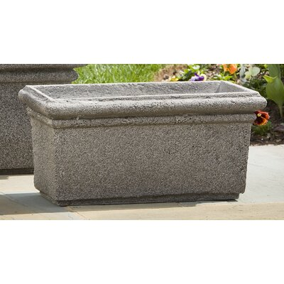 Alfresco Home Rectangle Rolled Rim Planter