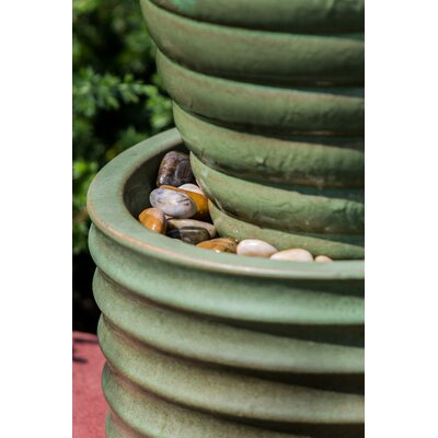 Alfresco Home Etna Ceramic Indoor / Outdoor Fountain