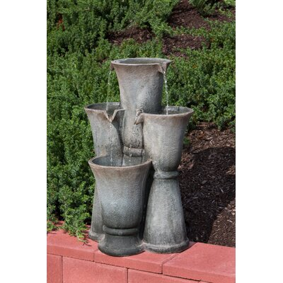 Alfresco Home Ceres Outdoor Resin Tiered Fountain