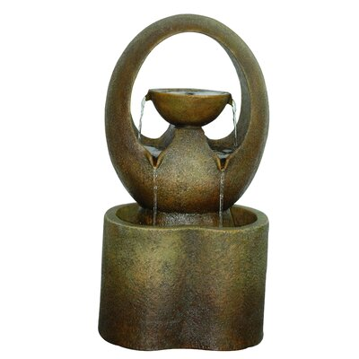 Alfresco Home Abrazo Outdoor Resin Tiered Fountain