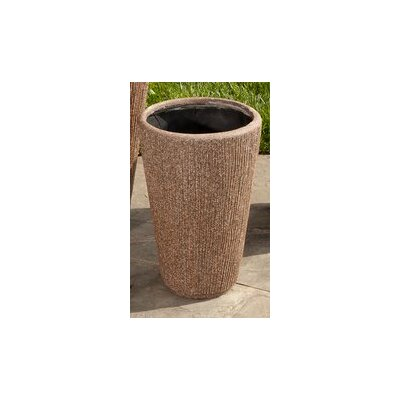 Graffiato Tall Round Planter