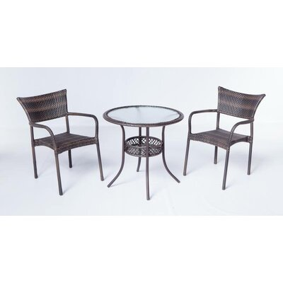 Alfresco Home Tutto All Weather Wicker Bistro Set