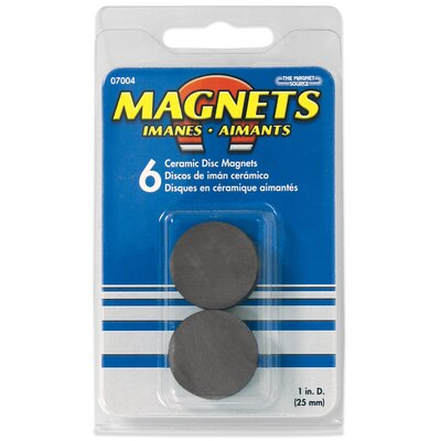 Master Magnetics Ceramic Disc Magnets (Pack of 6)