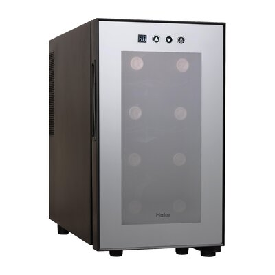 8 Bottles Wine Cellar with Electronic Controls in Black