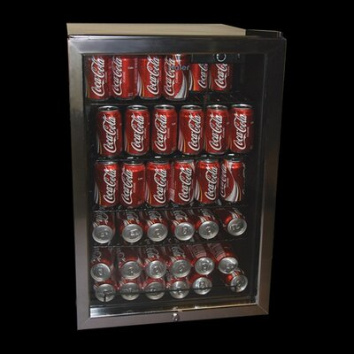 Haier 150 Can Beverage Center with Automatic Interior Light