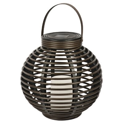Solar Flickering Rattan Basket Light