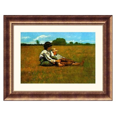Great American Picture Boys in a Pasture, 1874 Bronze Framed Print - Winslow Homer