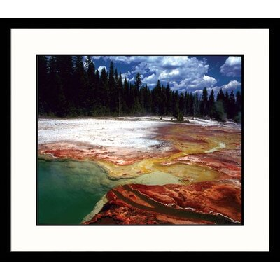 Great American Picture National Treasures Yellowstone Geyser Framed Photographic Print