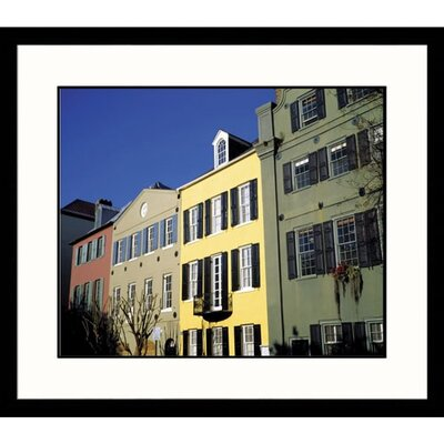 Rainbow Row Charleston Framed Photograph