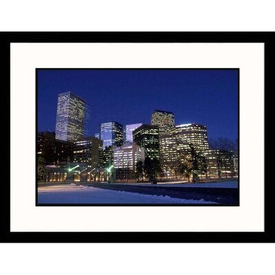 Great American Picture Skyline at Night in Denver, Colorado Framed Photograph  - Carl and Ann Purcell