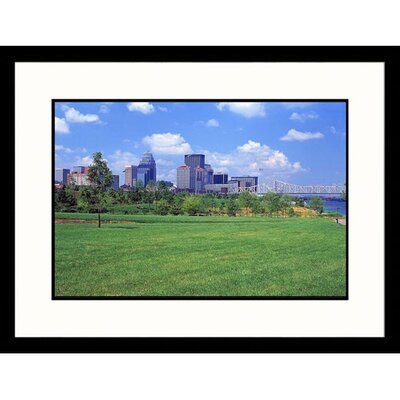 Great American Picture Louisville Skyline and Water Park Framed Photograph - David Davis