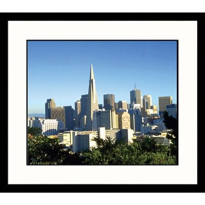 Great American Picture View of San Francisco Skyline Framed Photograph