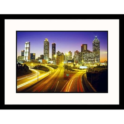 Cityscapes City Skyline with Skyscrapers Framed Photographic Print