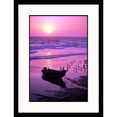 Great American Picture Seascapes 'Sunset, Newport Beach' by Mick Roessler Framed Photographic Print
