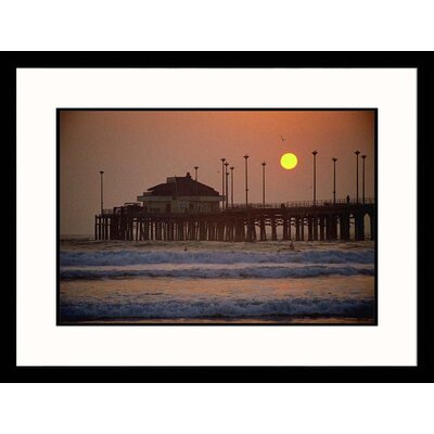 Great American Picture Huntington Beach Sunset Framed Photograph - Eddie Stangler
