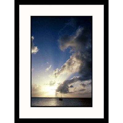 Sailboat at Dusk Framed Photograph