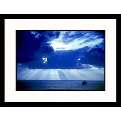 Great American Picture Cruise Ship Off of Saint Maarten Framed Photograph - Walter Bibikow