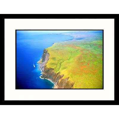 Great American Picture Seascapes 'Hawaii Cliffs' by Jim Wark Framed Photographic Print
