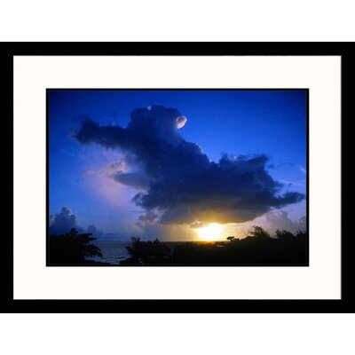 Great American Picture Cloud Over Ocean at Sunset Framed Photograph