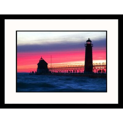 Grand Haven Lighthouse Framed Photograph - David Davis